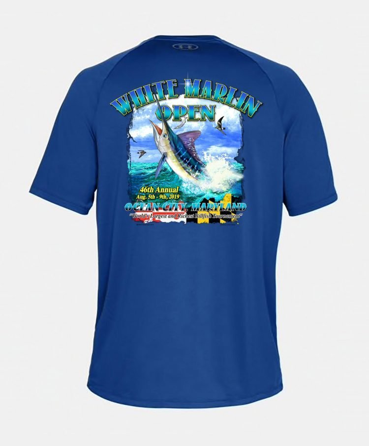 blue white marlin shirt