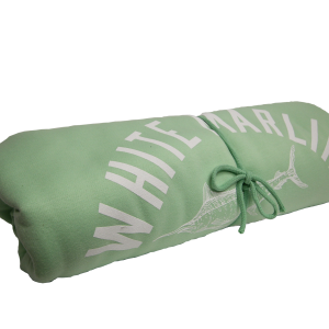 Green White Marlin Towel
