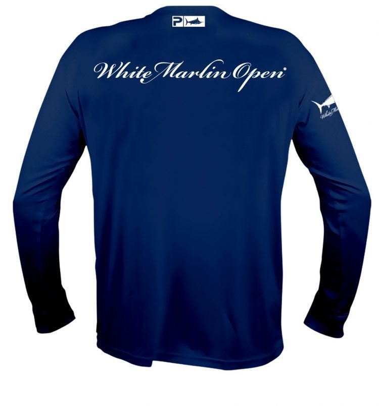 blue white marlin long shirt
