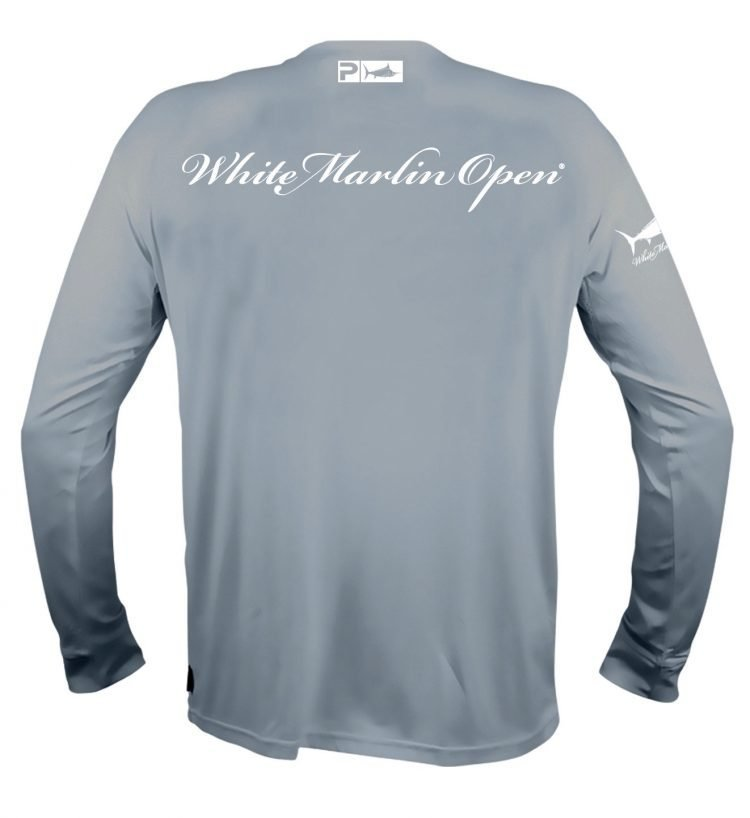 grey white marlin long shirt
