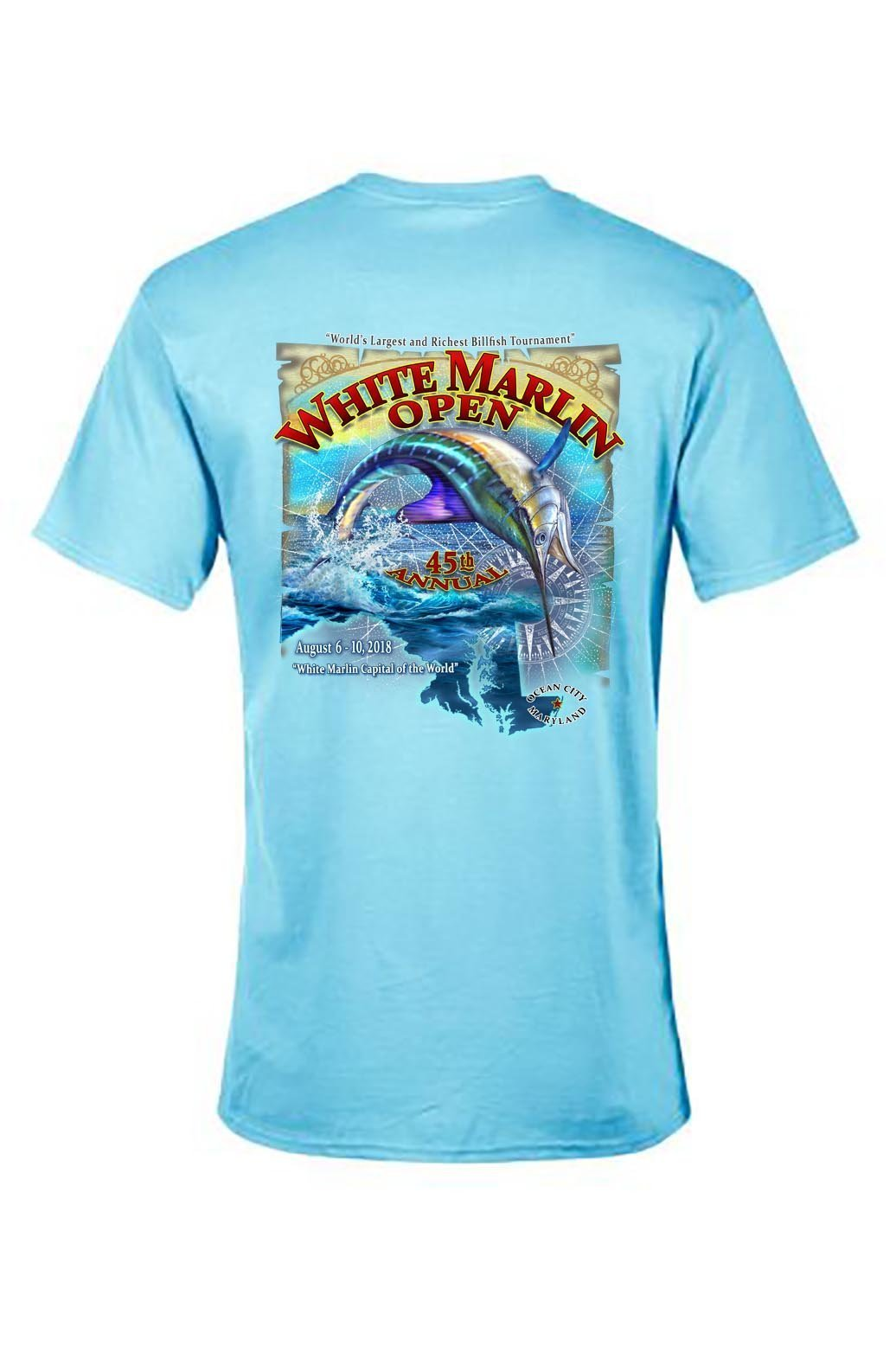 3e0631428ca6 2018 White Marlin Open Short Sleeve T's | White Marlin Open Store