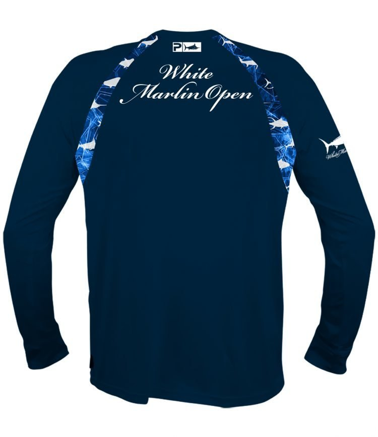 white marlin navy long shirt