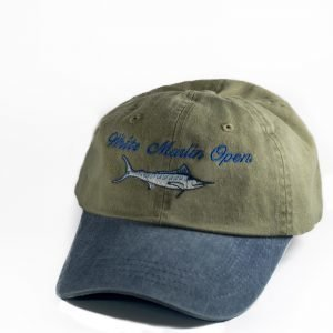 khaki white marlin hat