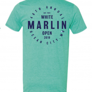 green shirt white marlin