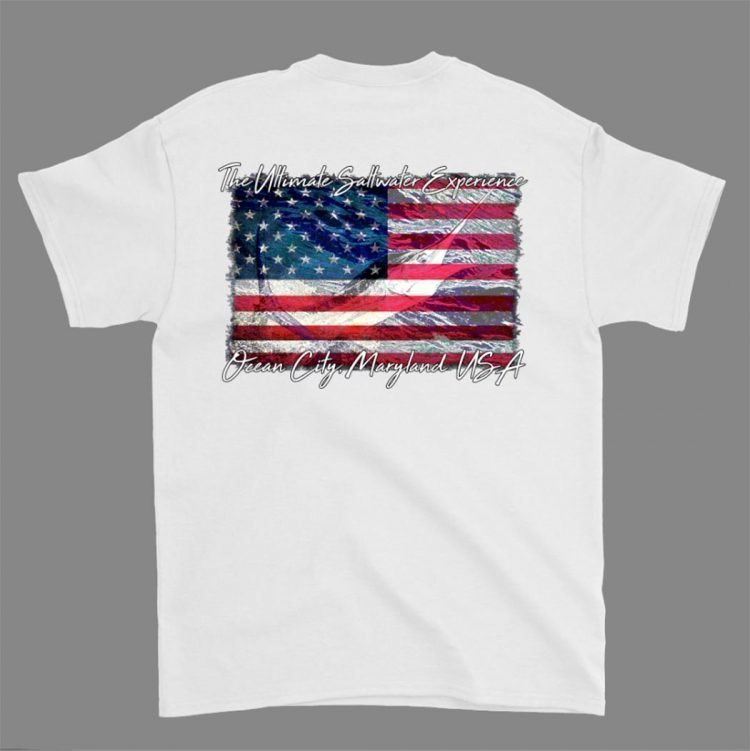White short sleeve t shirt america