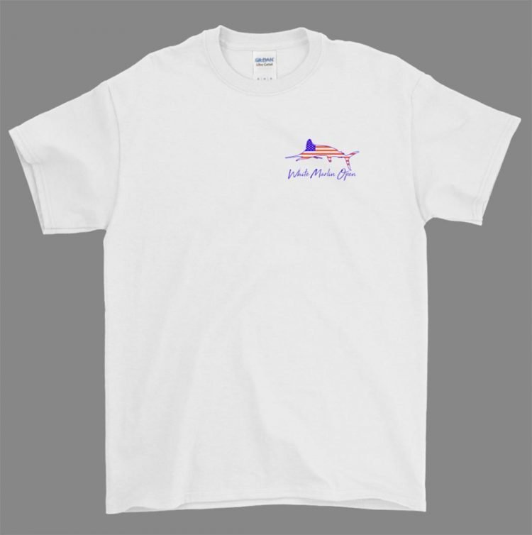 us white t shirt marlin open