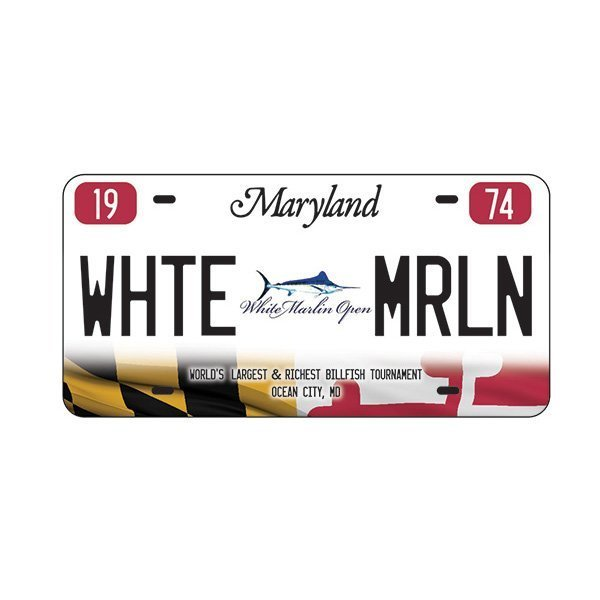 White Marlin License Plate